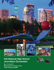 JEA/NSPA National High School Journalism Convention Fall 2011 Program - Minneapolis (PDF)
